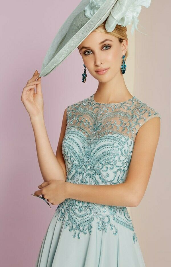 Veni Infantino For Roland Joyce 991450 Size 10 Opal Blue Mother of the Bride