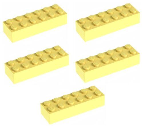 Neuf!!! 2456 Lego 5x Tan Brick 2x6