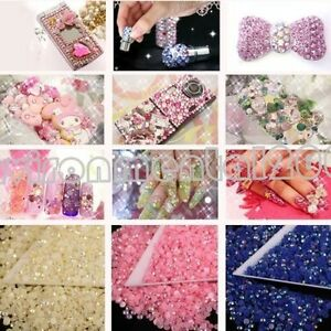 2000x-14-Facets-Resin-Rhinestone-Gem-Flat-Back-Crystal-AB-Beads-3mm-DIY-17Colors