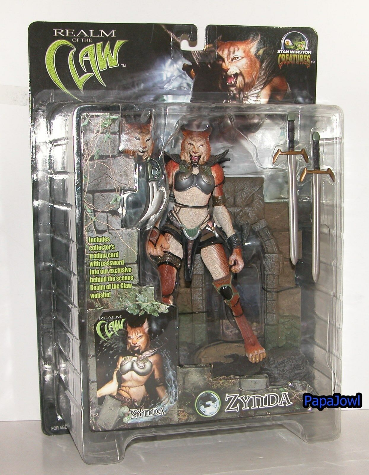 Stan Winston Creatures ZYNDA Realm Of The Claw Cat With Base 8  Action Figure