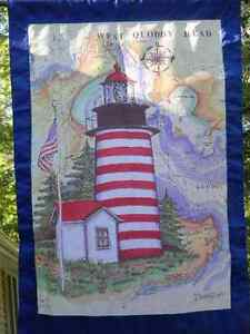 Donna-Elias-MAINE-Great-American-Lighthouse-Flag-Ocean-Map-Yard-Banner-28x43-NEW