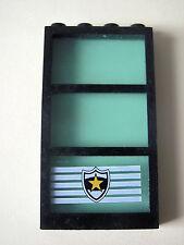 Lego 6160c03pb03 @@ Window 1 x 4 x 6 Rahmen Glass Polizei Star Badge 6598
