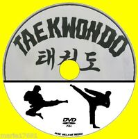 TAEKWONDO MARTIAL ARTS TRAINING GUIDE NEW DVD LEARN KICKS DEFENCES ATTACKS ETC