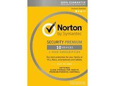 Symantec Norton Security with Antivirus Premium - 10 Devices [Key Card]