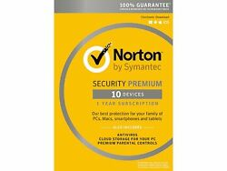 Symantec Norton Security with Antivirus Premium - 10 Devices for 1 Year