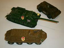 LOT 3 USSR Military Machine TANK BTR 60 Russian Soviet Toys Red star Propaganda