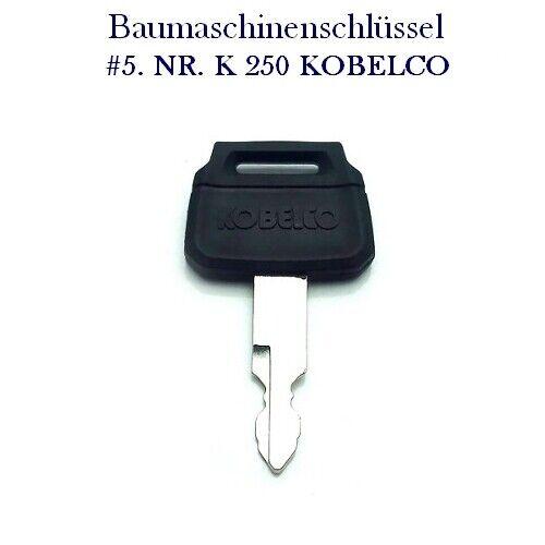 #5 Nr New Holland Baumaschinenschlüssel K250 KOBELCO Minibagger Zündschlüssel
