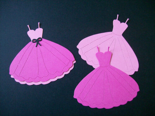 PRINCESS DRESS DIE CUTS 10 PROM PINK COLLECTION