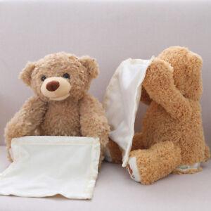 Peek-A-Boo-Teddy-Bear-Toddler-Bambini-Ragazzi-Giocare-Coperta-Di-Peluche-Giocattolo-morbido-UK