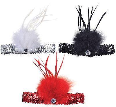 Freundlich Damen 1920er Pailletten Flapper Feder Haarband Stirnband Kostüm StraßEnpreis