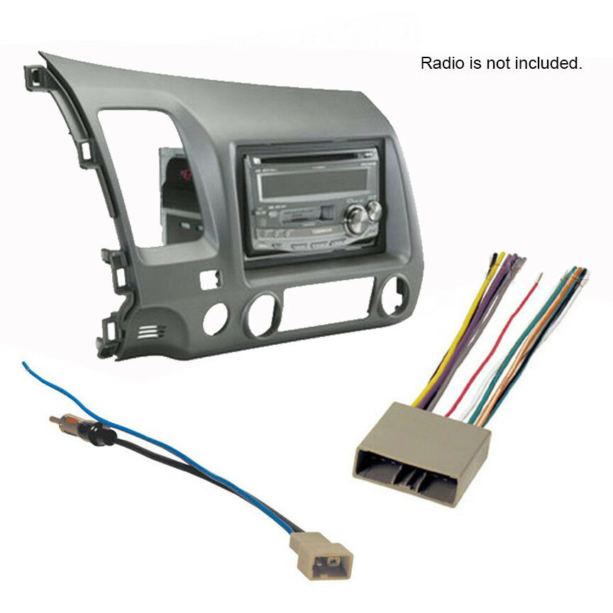details about 2006 2011 honda civic stereo radio cd install dash kit combo 2007 2008 2009 2010 Honda Civic Wiring Diagram