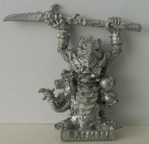 Classic-SKAVEN-Ratmen-Vermin-Lord-with-Halberd-age-of-sigmar-AOS-GW1985-Rare-OOP