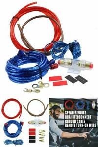 16 Gauge Cable Car Audio Kit Amplifier Subwoofer Wires For Vehicle