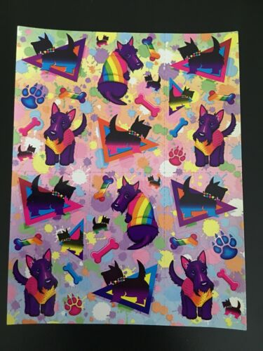 Rare 90s Vintage Lisa Frank Sticker Sheets Dogs Glitter Roses Hearts Bears Label