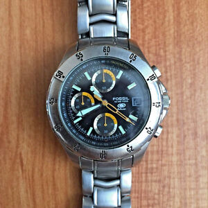 f5d6ea4b3 FOSSIL BLUE CH-2289 50 METERS DIVER 3 REGISTER CHRONOGRAPH WATCH ...