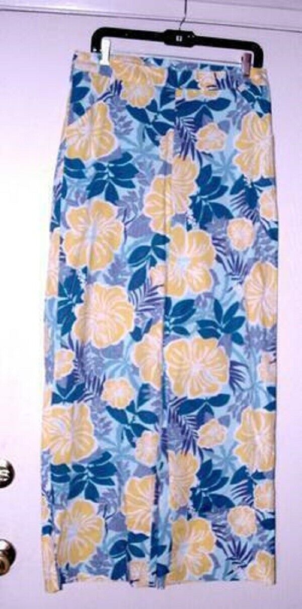LILLY PULITZER NASSAU blue AY POPPY SUZANNA PANTS 4