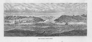 1881-Antique-Print-SOUTH-AFRICA-East-London-Sea-View-Shipping-Coastline-46