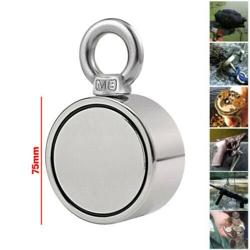 200//300//500KG Double Side Neodymium Metal Magnet Detector Fishing Kit+10M Rope