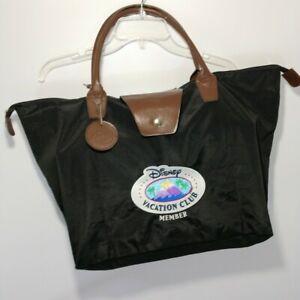 Disney-Vacation-Club-Member-Tote-Bag-Overnight-Travel-Fold-Up-Black-Nylon-DVC