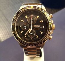 Seiko Flightmaster Solar Chronograph Pilot Men's Watch SSC008P2