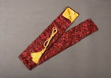 "53"" Red Dragon Silk Sword Bag for Japanese Samurai Sword Katana"