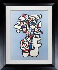 Jean-Dubuffet-LITHOGRAPH-Limited-EDITION-1973-Vacuum-Form-Custom-Frame