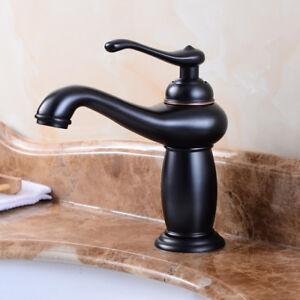Schwarz Edelstahl Bad Waschtisch Armatur Mischbatterie Waschbecken Wasserhahn
