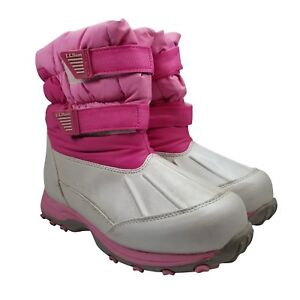 6cafb4ebf4b7 Details about LL Bean Girl s Boots Size 5 Snow Tread Waterproof Insulated  Pink Kids 289143