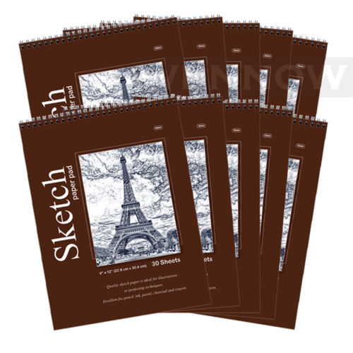 10pcs//Lot 30 CT Sheets 9 x 12 inches Premium Quality Sketches Pad Drawing Book