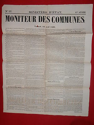 Heerlijk Journal Le Moniteur Des Communes Ministere D'etat N°17 - 24 Avril 1868 Duidelijk Effect