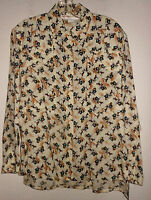Howard Wolf Button Front Blouse Womens Size 10