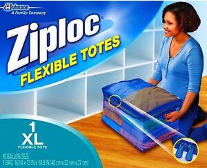 Image Is Loading Ziploc Xl Flexible Storage Tote 10 Gallon Extra