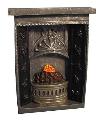 miniaturas Pequeño Gris Chimenea fuego chimenea de casa de muñecas en miniatura 1//12th