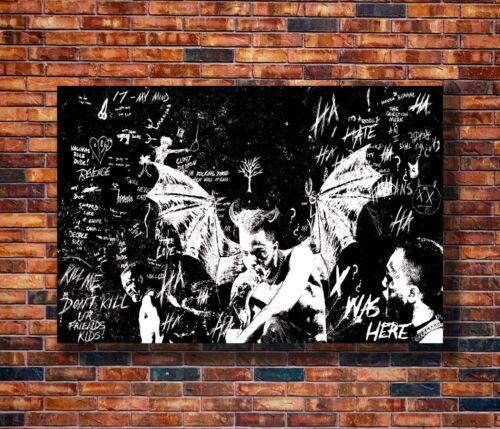 Hot Fabric Poster XXXTENTACION 2018 Rapper Music Star 36x24 30x20 40x27inc Z3491