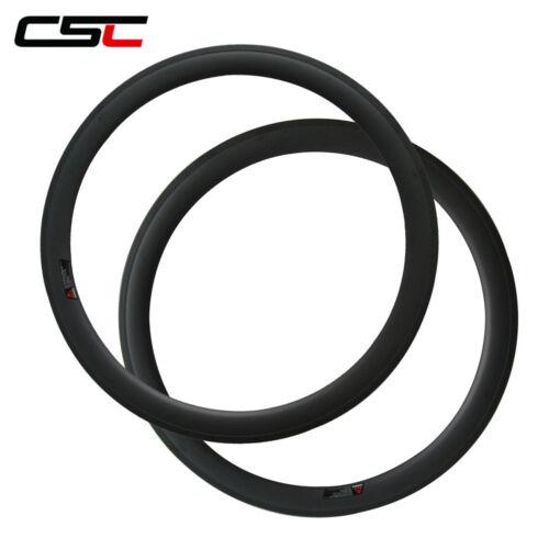 CSC 50mm Clincher carbon bike rim only carbon bicycle road rim