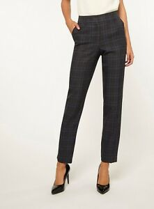 9cd953fd1 Image is loading Dorothy-Perkins-Blue-Tall-Striped-Ankle-Grazer-Trousers-