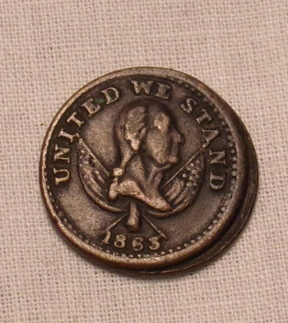 1863 Broas Brothers Pie Bakers United We Stand Civil War Token....Lot #7638