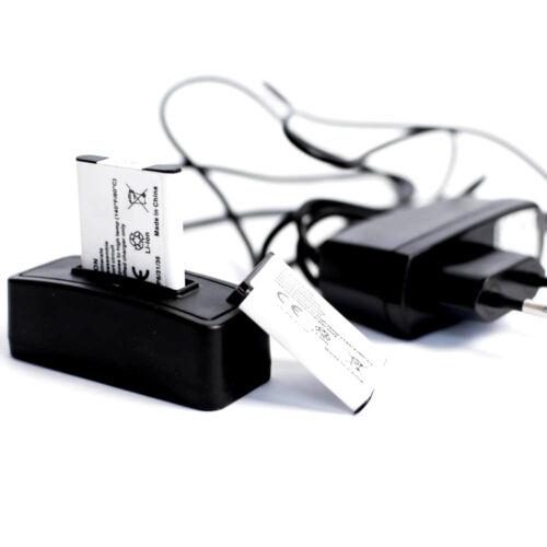 red cargador 2 baterías para olympus t-100 estación de carga