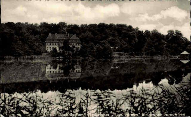 ~1958 DDR Postkarte Bad Bukow Märkische Schweiz Kinderheim am Tornow-See s/w AK