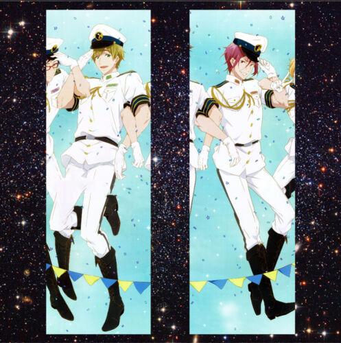 Rin Matsuoka//Makoto Tachibana Dakimakura Hugging Body Pillow Case #JH03 Free