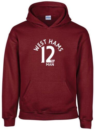 12th Man West Ham Fan Hoodie Kids