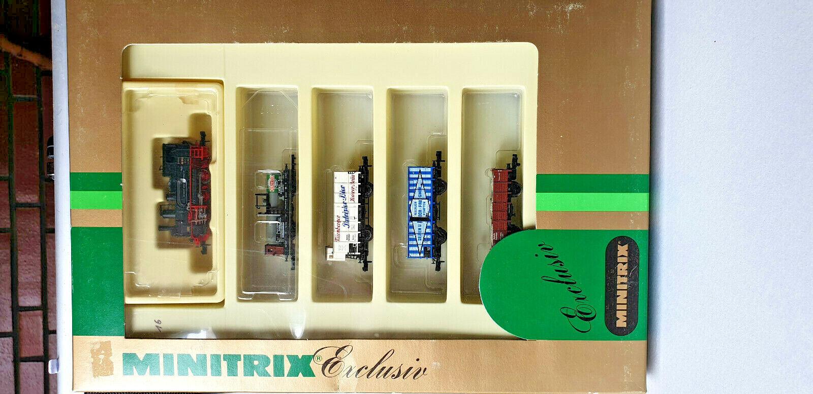 Minitrix 11014 Spur N TRENO MERCISet 5 pezzi con br 89 delle DR, Ep. iII, nuovo, Confezione Originale