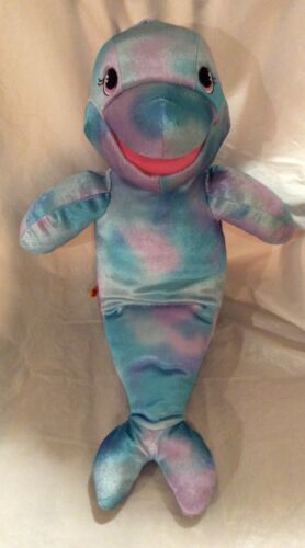 "Build a Bear Sea Splash Dolphin Hand Puppet 19"" Plush"