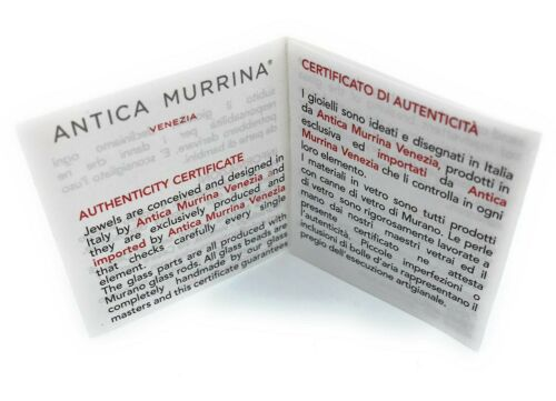 Bracciale Donna Salsa Antica Murrina V Murano Glass Made in Italy v465