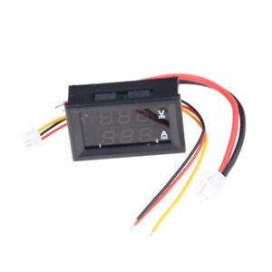 DC100V-10A-Voltmeter-Ammeter-Blue-Red-LED-Dual-Digital-Volt-Amp-Meter-GaugeWQZ