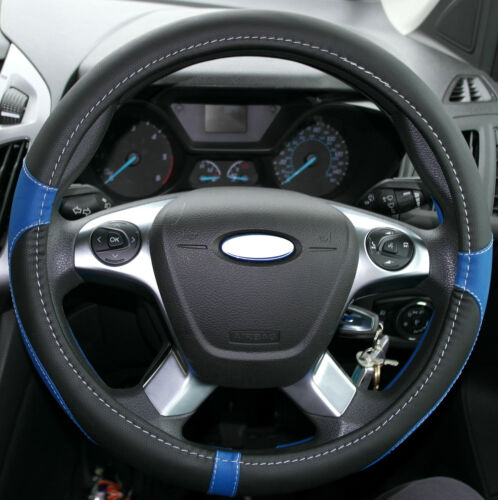 37-39 cm Steering Wheel Glove Cover BLUE fits Opel Vauxhall Astra G H All Models