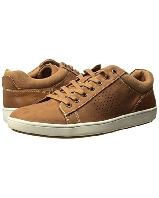 Steve Madden Men's Sneaker Fisk Lace up Fashion Sneaker shoes Tan 13M