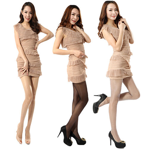KM/_ Women Shiny Untra-Thin Stockings Pantyhose Tights Sheer Hosiery Eager