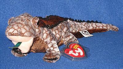 w// Green Tongue the Komodo Dragon Ty Beanie Baby BALI