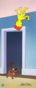 Warner Brothers-Limited Edition Cel-Two's A Crowd-Claud Cat and Frisky Puppy